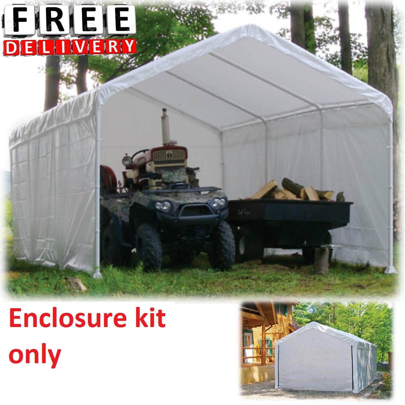 Canopy Enclosure Kit 12x30' Shelter Portable UV Protection G