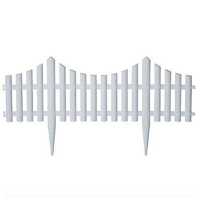 Plastic Garden Fence Border Decor Panels 18 Pack Fencing Landscape Picket Edging