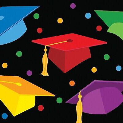 Graduation Beverage Napkins Multi Color 18ct Decoration Favor Party Supplies - Graduation Napkins