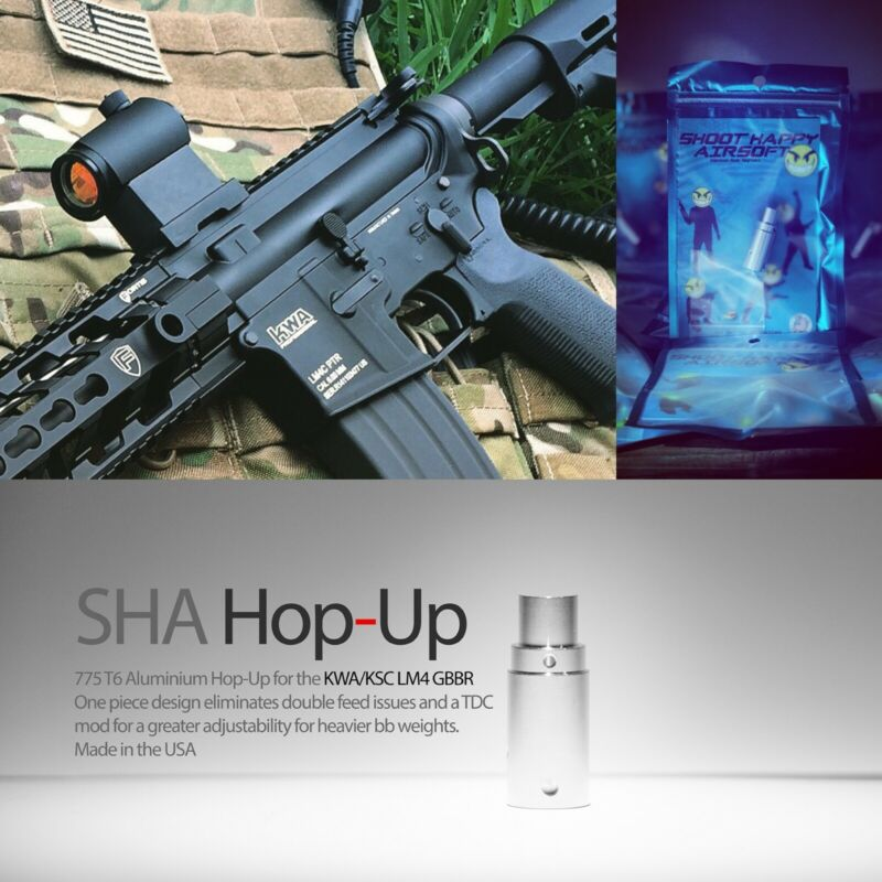 New SHA Hop-Up for KWA LM4 GBBR Upgrade your Hop-Up works w/ .25g-40g