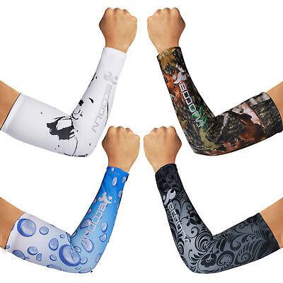 UV Sun Protection Arm Sleeves Cover Cooling Outdoor Sports Basketball Cycling US