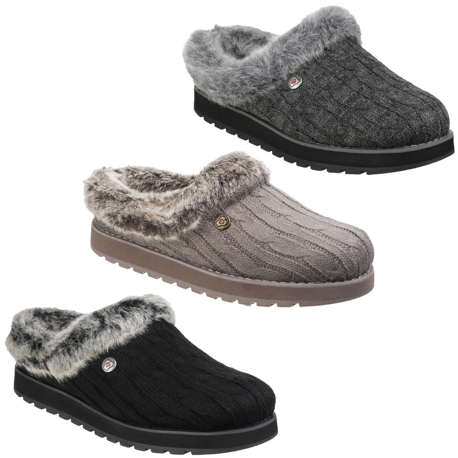 Ice Angel Knitted Mule Slippers