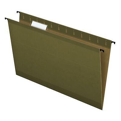Pendaflex Surehook Reinforced Hanging File Folders Legal Size Standard Green
