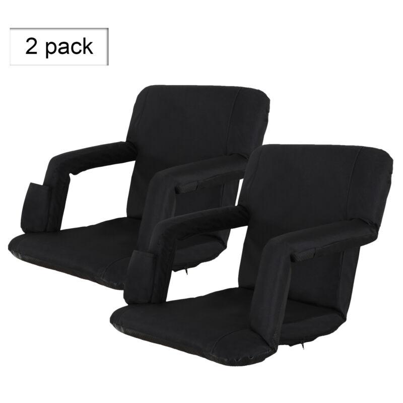2 Pack Portable Football Stadium Seat Chair for Bleacher Backrest tilt 5 angels