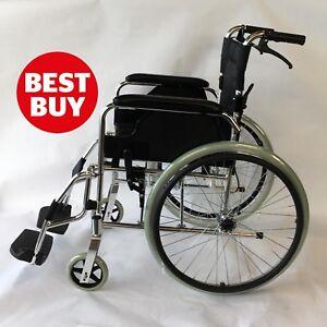 Ultra Lightweight Luxury ALUMINIUM Folding Wheelchair, Self-Propelled Chair