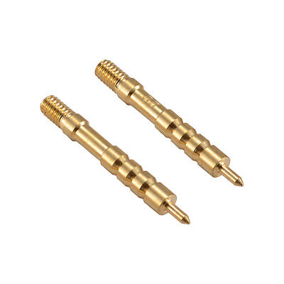 .22 Caliber Solid Brass Spear Pointed Jag Gun Clean Accessories Brass Pack of 2