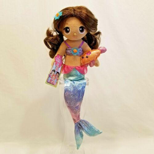 "FantaSea Friends Aquana Mermaid Doll Shelf Sitter by First & Main 18"" Plush Toy"