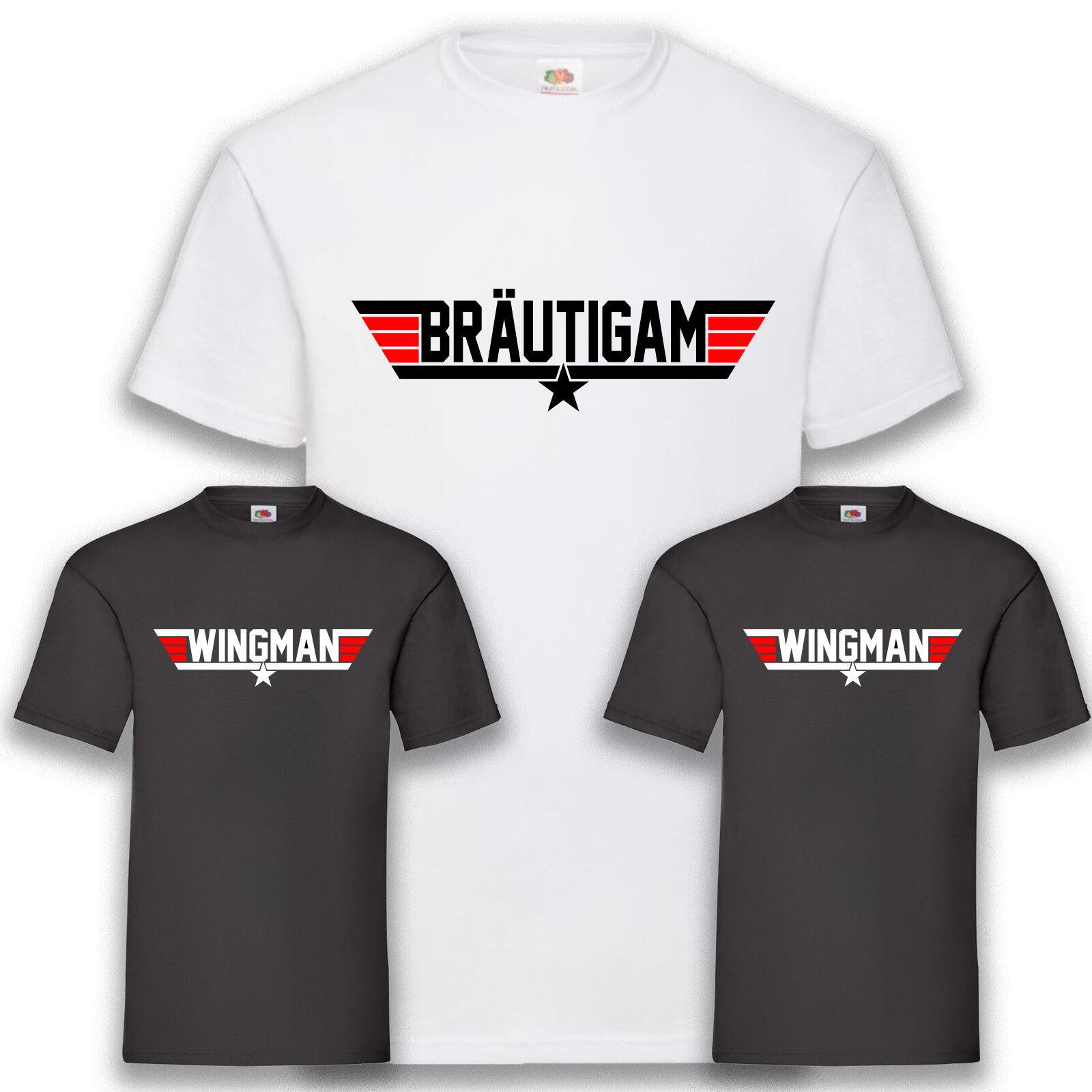 JGA Shirt Junggesellenabschied Fun T-Shirt Top Gun Party Bräutigam S-5XL