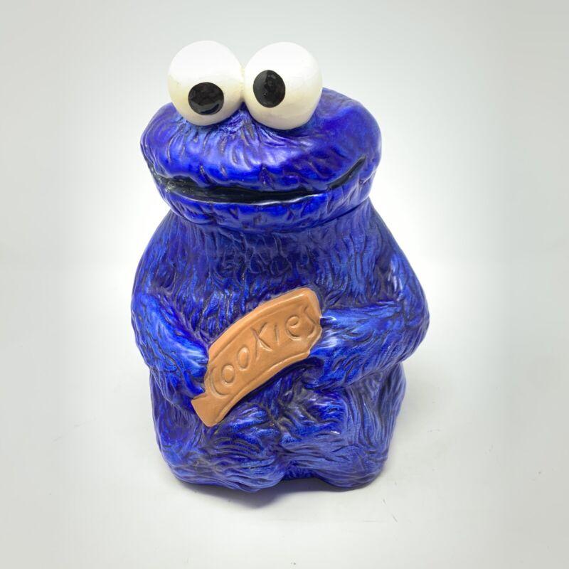 Vintage 1970s Handpainted Sesame Street Cookie Monster Muppets Cookie Jar