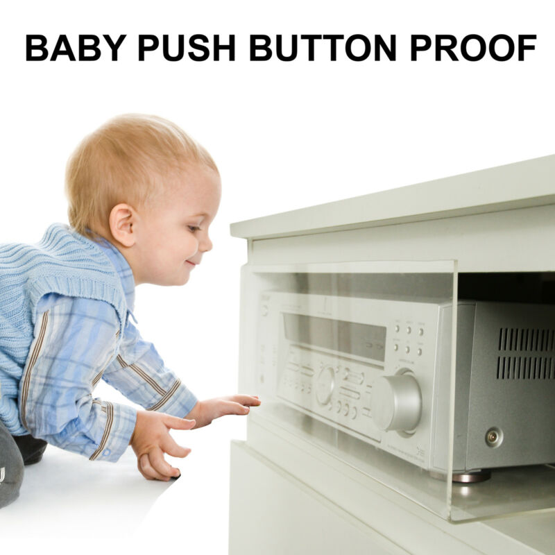 Hi-Fi AMPLIFIER DVD ELECTRONIC PROTECTOR GUARD BABY CHILD PUSH BUTTON PROOF