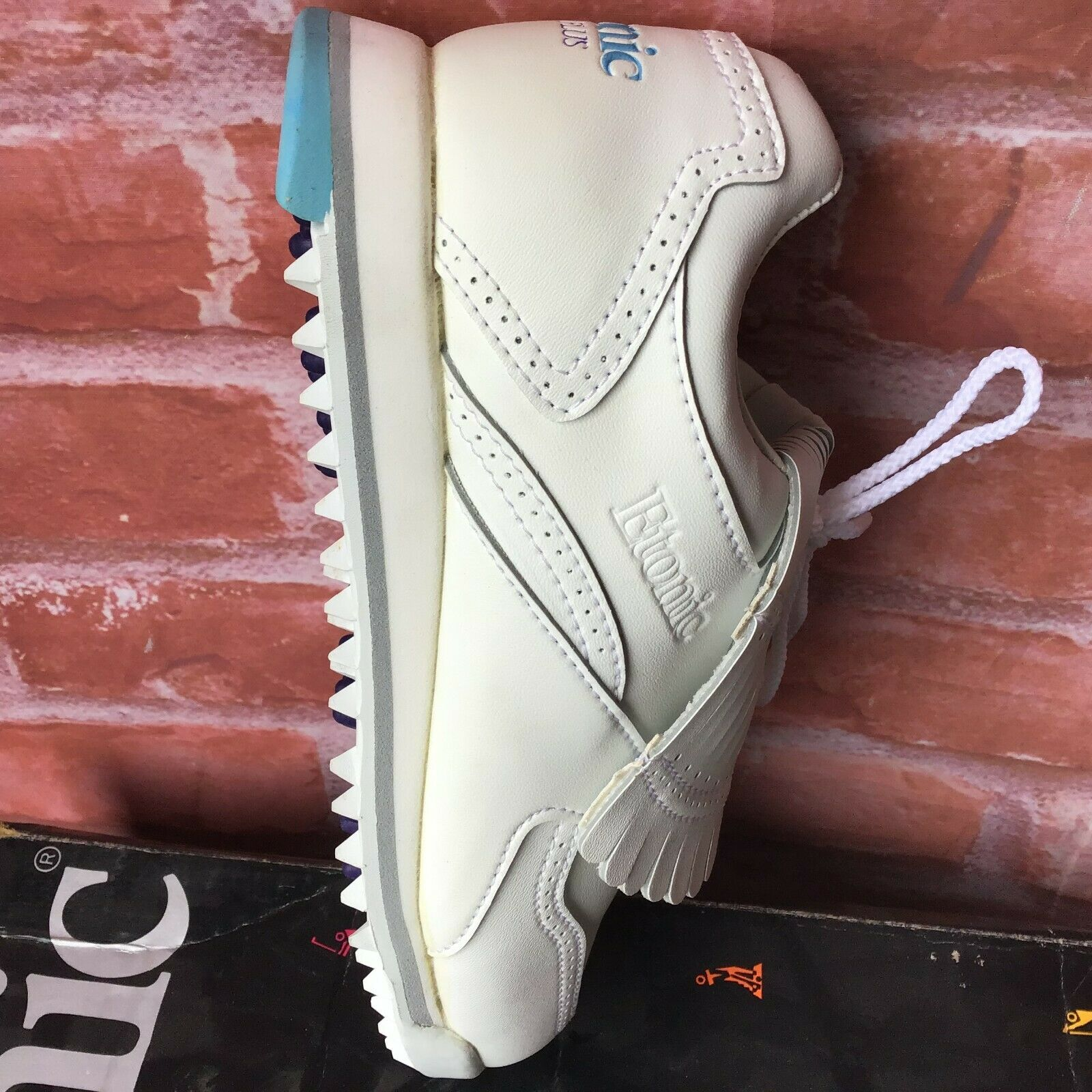 NWB Vintage Etonic ST Plus Softspikes Women s Sz 5 White Tassel Golf Shoes - $24.99