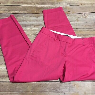 J Crew Factory Hot Pink City Fit Cropped Chino Like Pants Womens Size 0 Ankle
