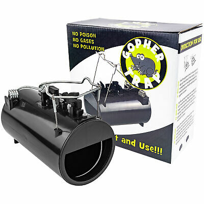 Black Hole Gopher & Rodent Trap Gophers Moles Rats Rodent Easy Pest Control NEW Gopher Pest Control