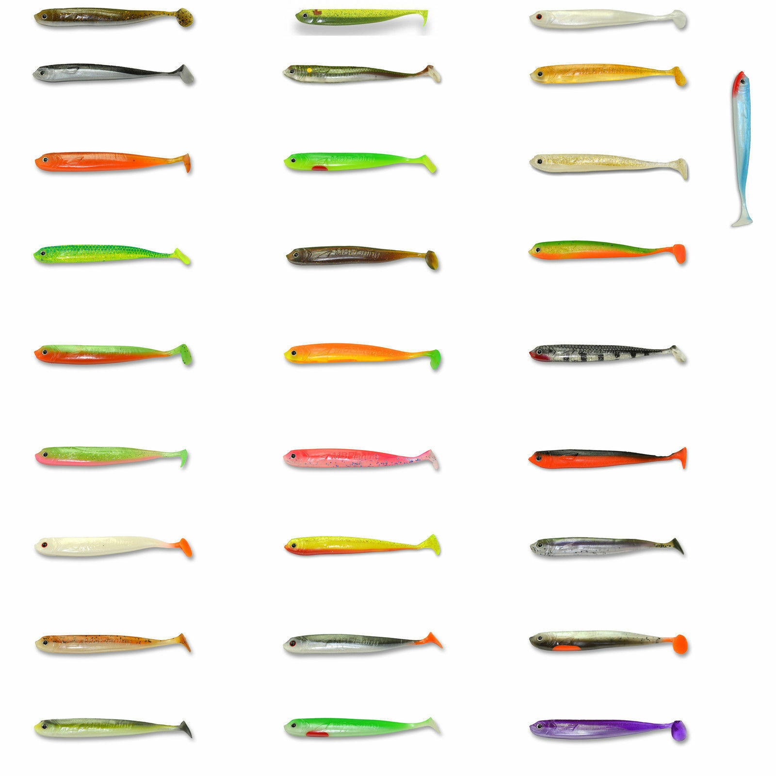 2 St Iron Claw Slim Jim Shad 10cm Gummifisch Stint Bass Köder Barsch Zander UV