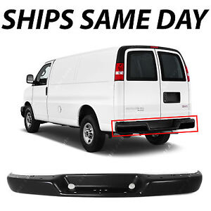 f3e562896d NEW Primered Steel Rear Bumper Bar for 1996-2018 Chevy Express   GMC Savana  Van