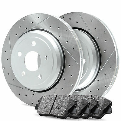 Front R1 Carbon Drill Slot Brake Rotors   Ceramic Pads Bmw  535I  2011 2013