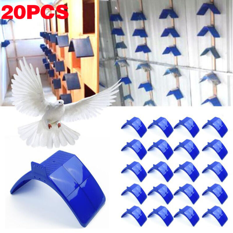 20x Dove Bird Rest Stand Plastic Frame Dwelling Pigeon Perches Roost Supply Set