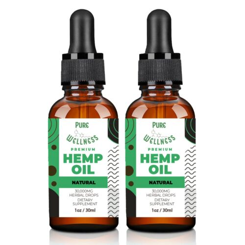 Hemp Oil 30,000mg   Discover the Benefits of Hemp Seed Oil (2-Pack)