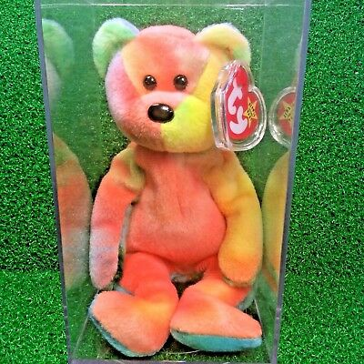 Very RARE 1993 Garcia The Bear Retired Ty Beanie Baby MWMT PVC Numerous Errors