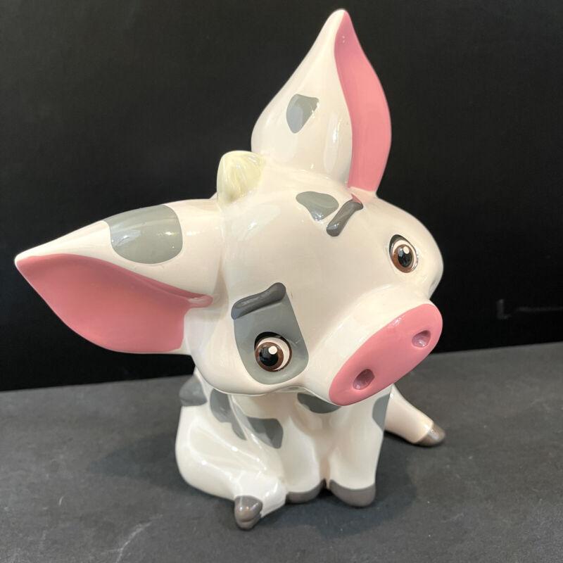 Disney Moana Pua Pig Ceramic Standing  Coin Piggy Money Bank . Used.