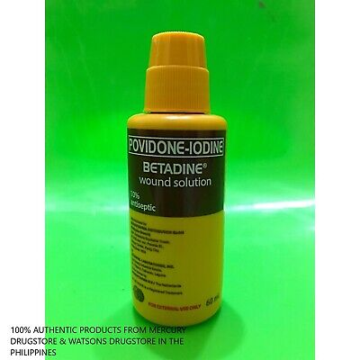Betadine Povidone-Iodine Antiseptic Wound Solution - 60ml - 10% - Exp 06/2024 10 Povidone Iodine Solution