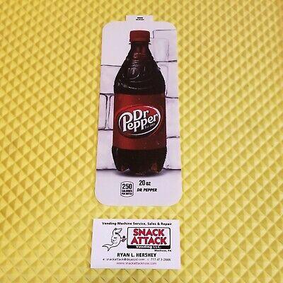 Royal Vendors Soda Vending Machine Dr. Pepper 20oz Bottle Vend Label