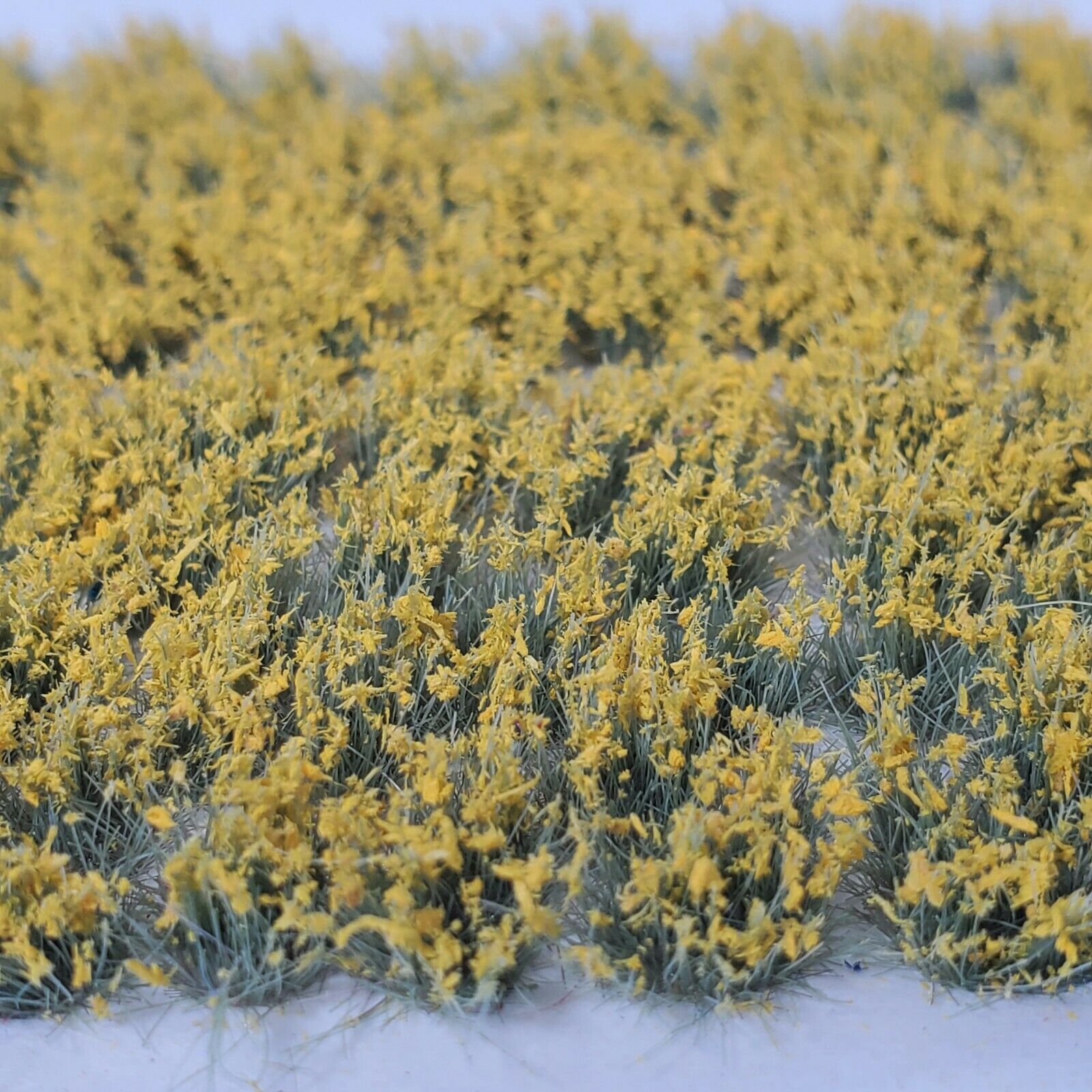 Self Adhesive Static Grass Tufts for Miniature Scenery -Yellow Wildflowers- 6mm