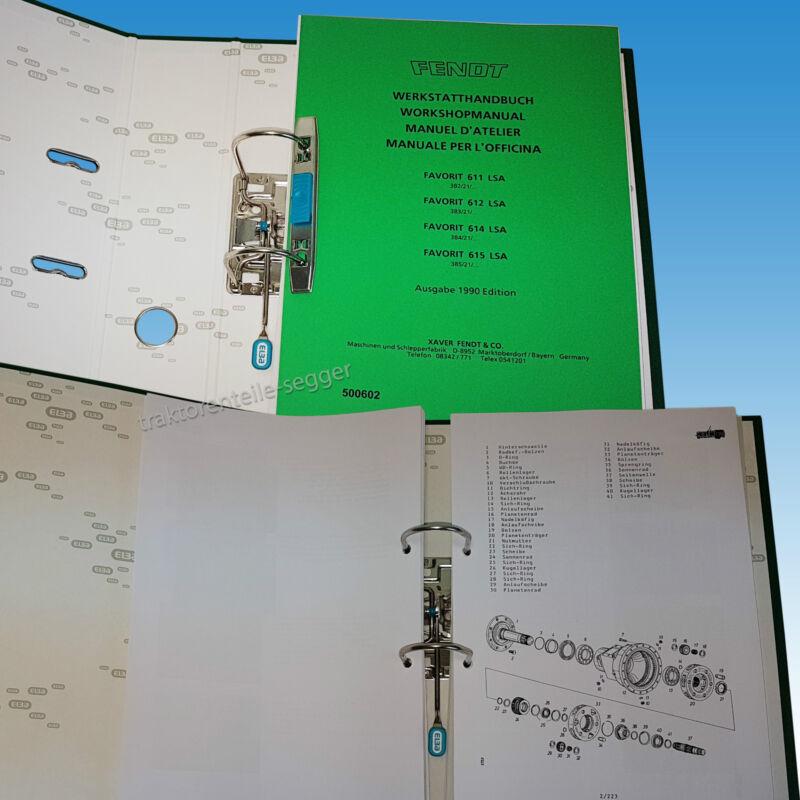 Fendt Werkstatthandbuch für Favorit 611 612 614 615 LSA Ausgabe 1990 500602 Foto 1
