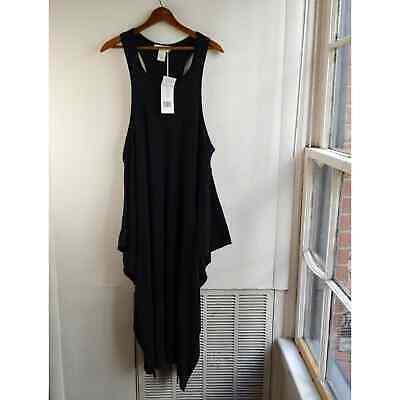Stella McCartney Black Knit Racerback Maxi Dress