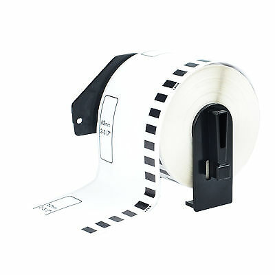 1 Roll Dk-2205 Compatible Brother Continuous Labels White Paper Tape 2.4x100ft