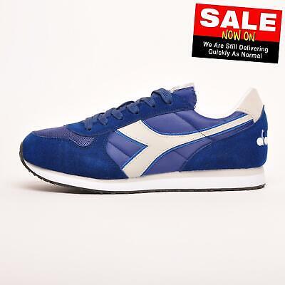 Diadora K Run II Men's Classic Vintage Retro Running Trainers Sneakers Blue
