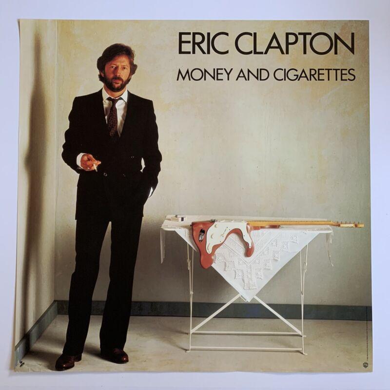 """Original 1983 Eric Clapton Money & Cigarette Promotional Rock Poster 23"""" X 23"""""""