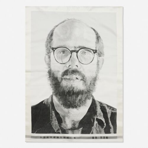 Chuck Close, Self-Portrait, 1993, Tapestry, A/D New York