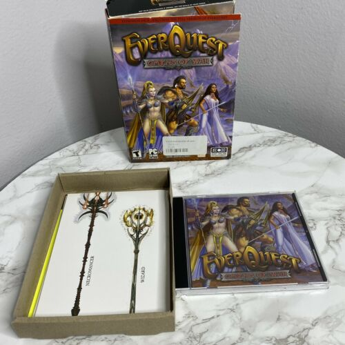 Computer Games - EverQuest Omens of War PC 2004 With Foldable Epic 2.0 Poster Computer Game