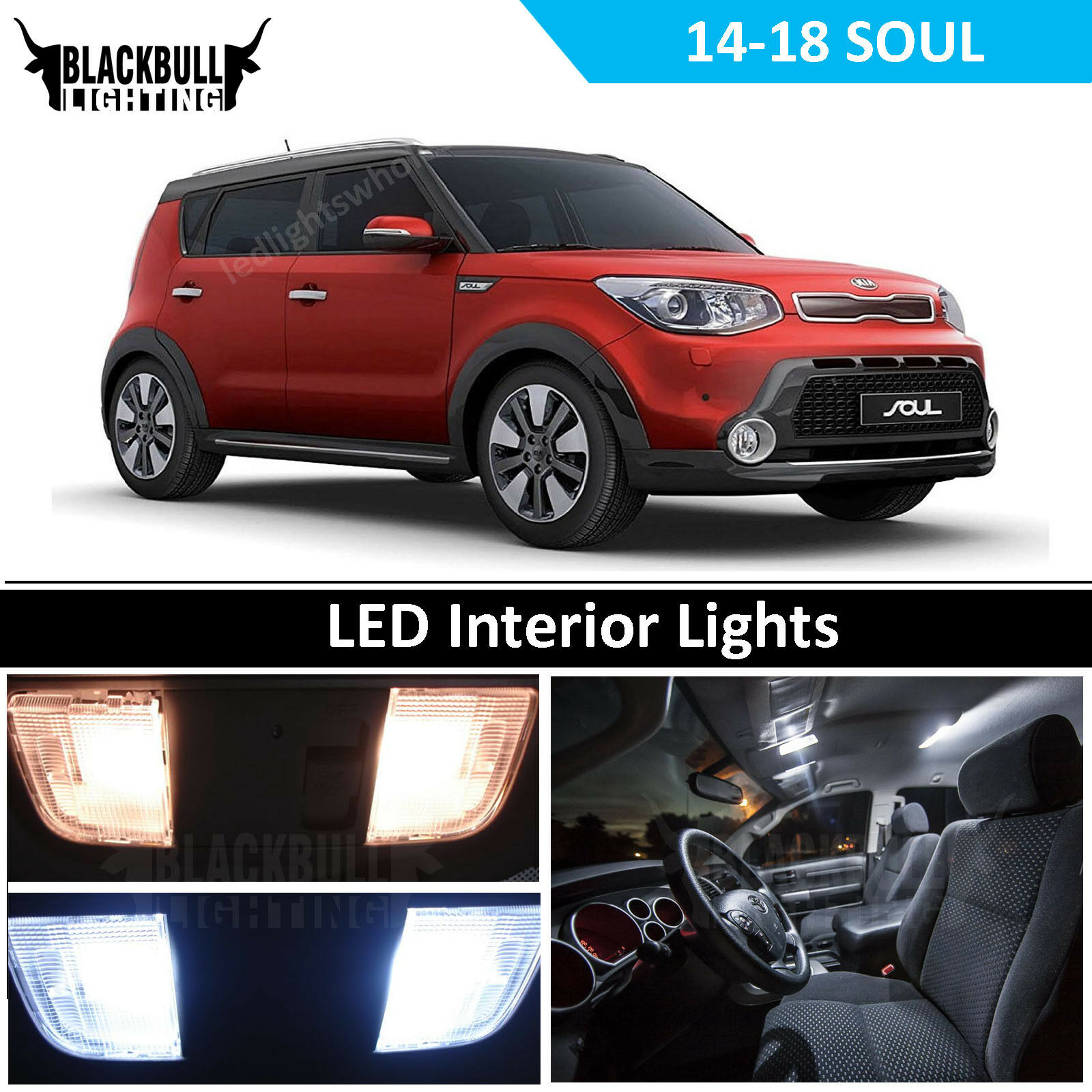 Kia Soul Accessories >> Details About White Led Interior Light Package Accessories Kit Fits 2014 2018 Kia Soul