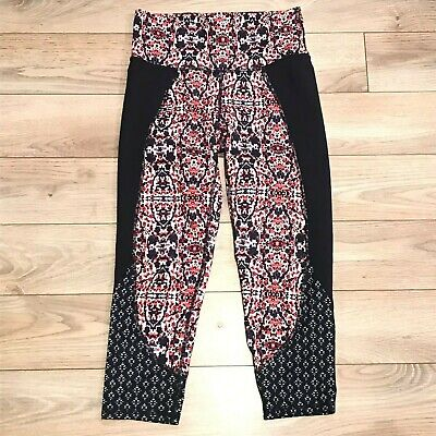 Athleta Womens Sz XS Crop Capri Chaturanga Leggings Multicolor 305922 activewear