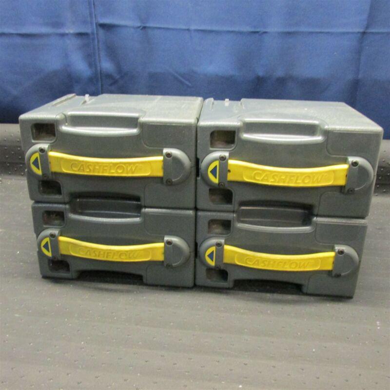 LOT OF 4 MEI 50043690 CASH BOX CAN BILL ACCEPTOR VALIDATOR CASHFLOW 41D7248