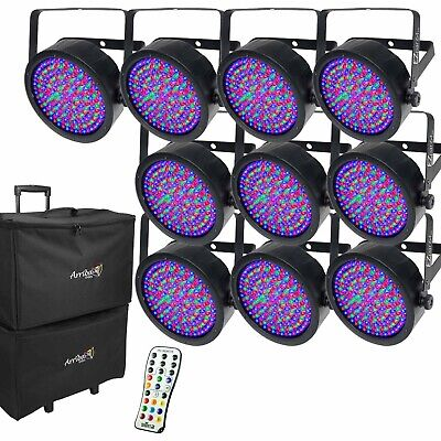 Chauvet DJ EZPar 64 RGBA LED Wireless Battery Wash Light 10 Pack + Bags