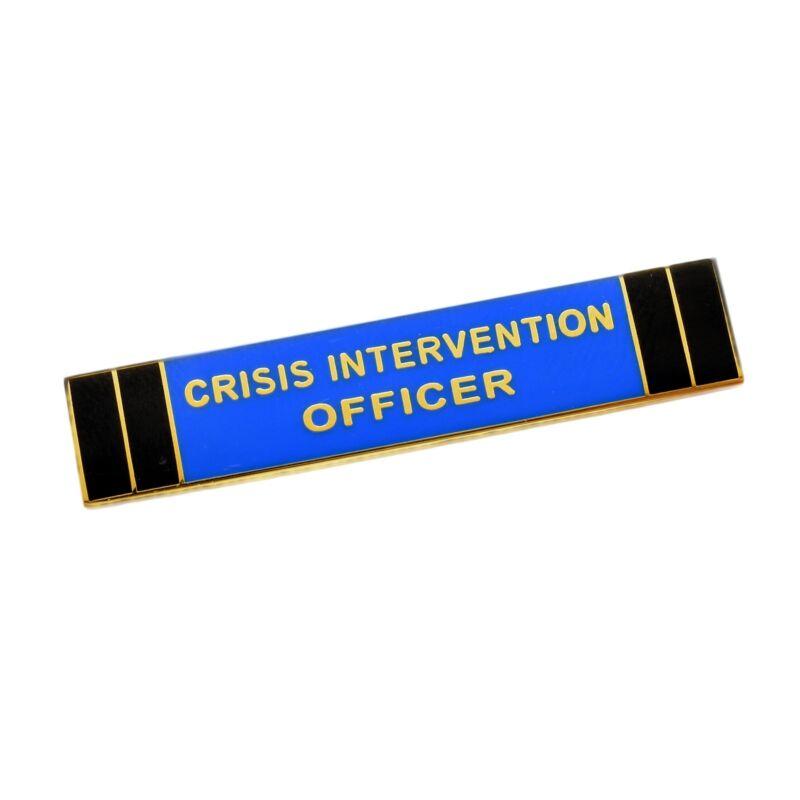 Crisis Intervention Officer Citation Bar Police Merit Award Commendation Gold