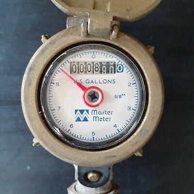Master Meter - Water Meter Brass Hinged Lid 58