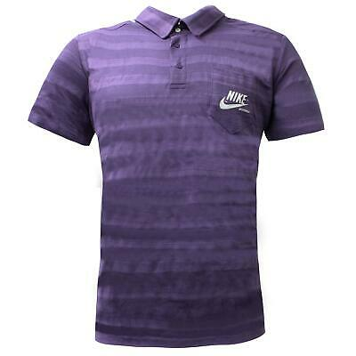 Nike Mens Polo Shirt Casual Sportswear T-Shirt Purple 254072 515