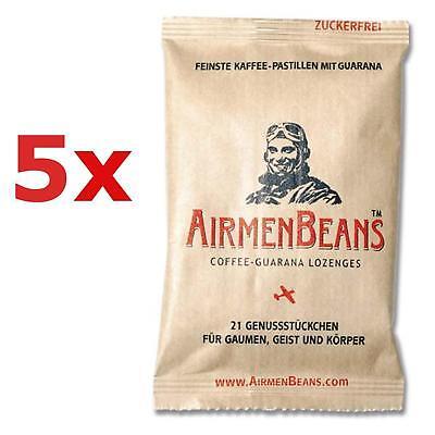 Airmen Beans 5x Kaffee Pastillen Guarana 105 St Coffein zuckerfrei AirmenBeans