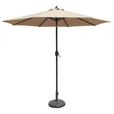 Mirage 9-ft Octagonal Market Umbrella with Champagne Olefin Canopy 9 Octagon Market Umbrella
