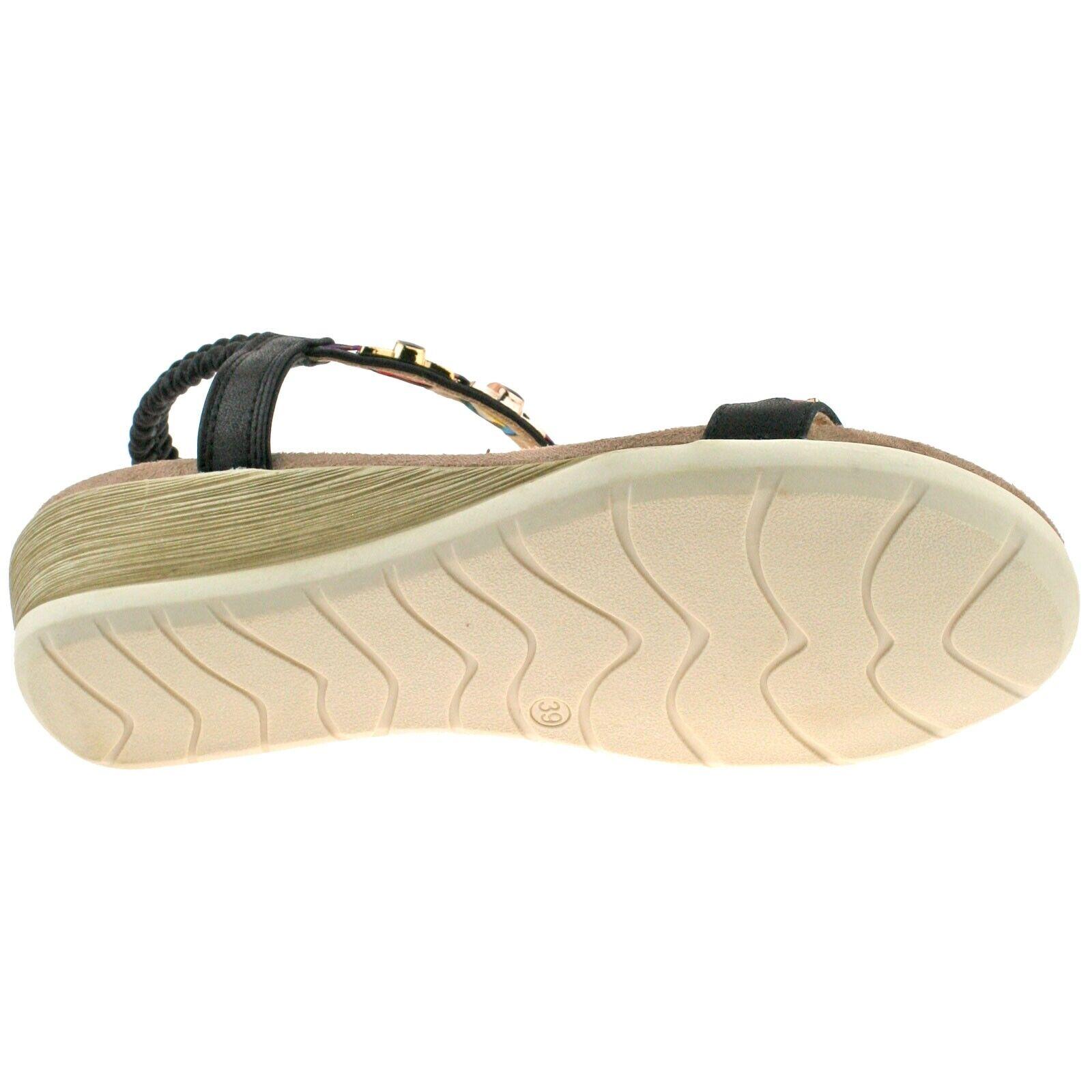 Dunlop Ladies Wedge Flip Flops
