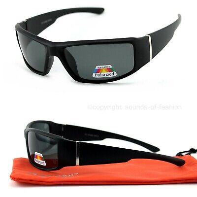 Sonnenbrille Polarisiert Schwarz Matt Bikerbrille Security Brille Schmal Cool GX