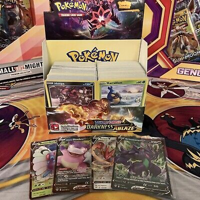 Pokemon Sword & Shield Darkness Ablaze Booster Box Card Game OPENED