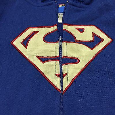 Superman Baby Boy Zip Up Hoodie 12M Months Sweatshirt DC Comic Halloween Costume - Baby Boy Superman Halloween Costumes