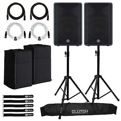 "Yamaha DBR15 15"" Powered Active Bi-Amp 2-Way DJ PA Speakers"