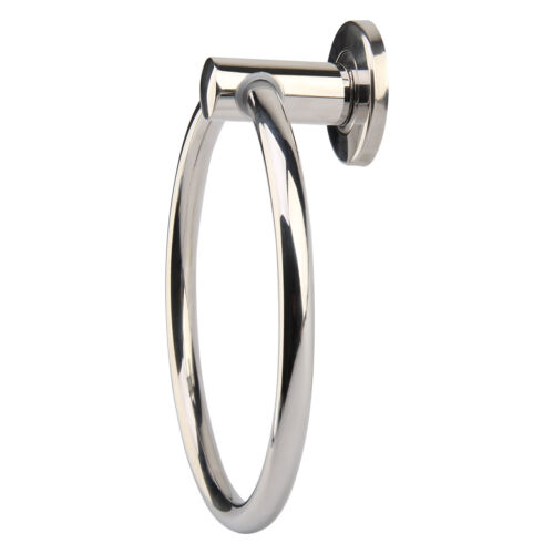 Luxury Chrome Round Hand Towel Ring Holder Wall Mounted For Kitchen Bathroom Ebay