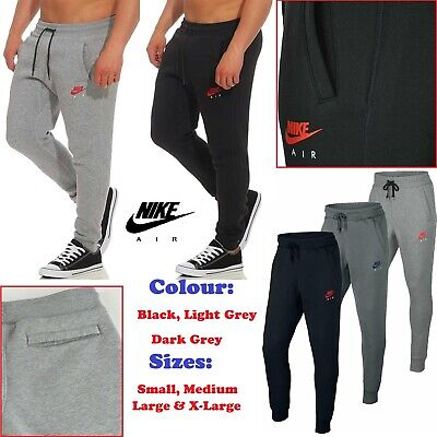 New Mens Nike Tapered Club Joggers Air Fleece Track Suit Bottoms Jogging Pants